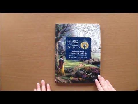 Disney Dreams Colouring Book By Thomas Kinkade Flip Through Youtube