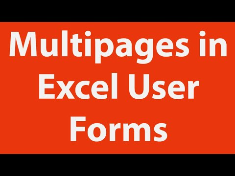 Multipages in Excel User Forms