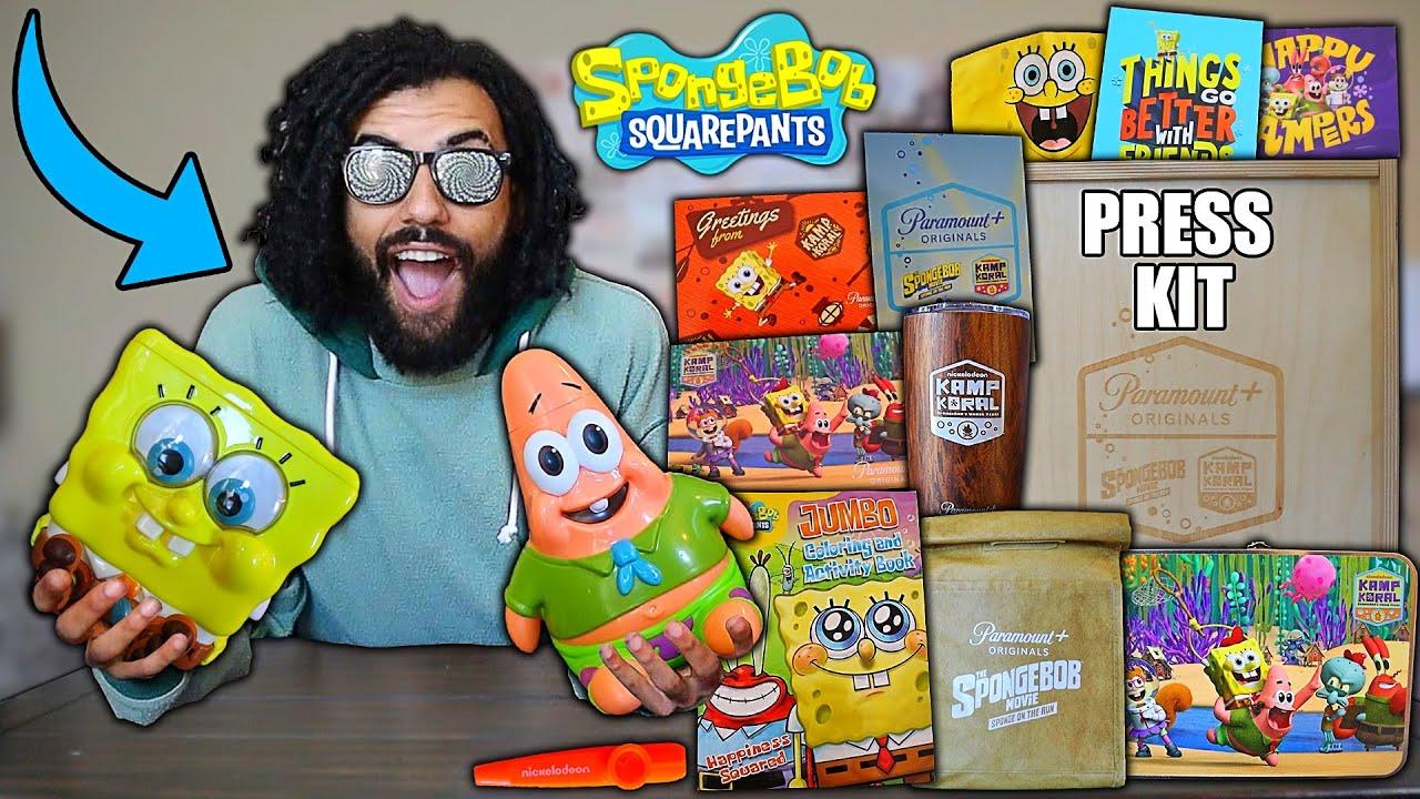 "Download Opening A RARE SPONGEBOB SQUAREPANTS ""Sponge On The Run"" PRESS KIT""!! (LIMITED EDITION..)"