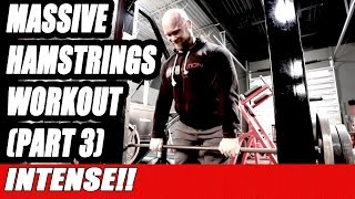 Massive Hamstring Muscles, Ben Pakulski Teaches Hamstrings Training [PART 3]