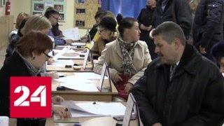 Выборы в Луганске: люди идут голосовать нескончаемым потоком - Россия 24