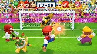 Mario & Sonic At The London 2012 Olympic Games Football Donkey Kong, Mario, Daisy and Yoshi