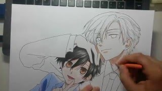 Speed Drawing - Haruhi and Tamaki (Ouran High School Host Club)