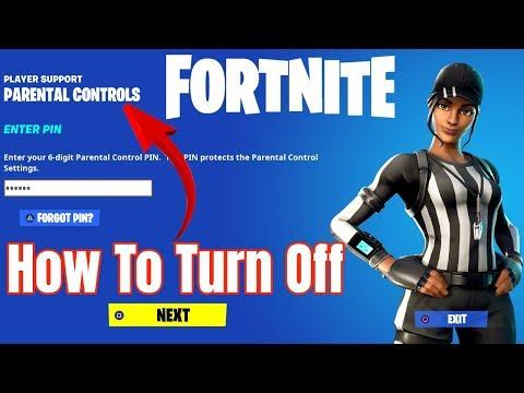 Turn Off Parental Controls Fortnite *VOICE CHAT FIX*