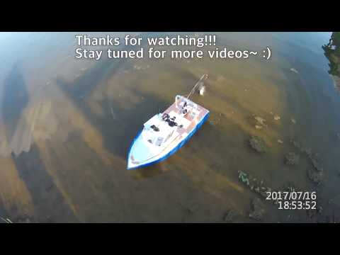 Won's Scratch Built RC Fishing Boat - Caught A Catfish!!!