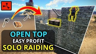 This OPEN TOP BASE Made My RAID Super EASY!! - RUST SOLO