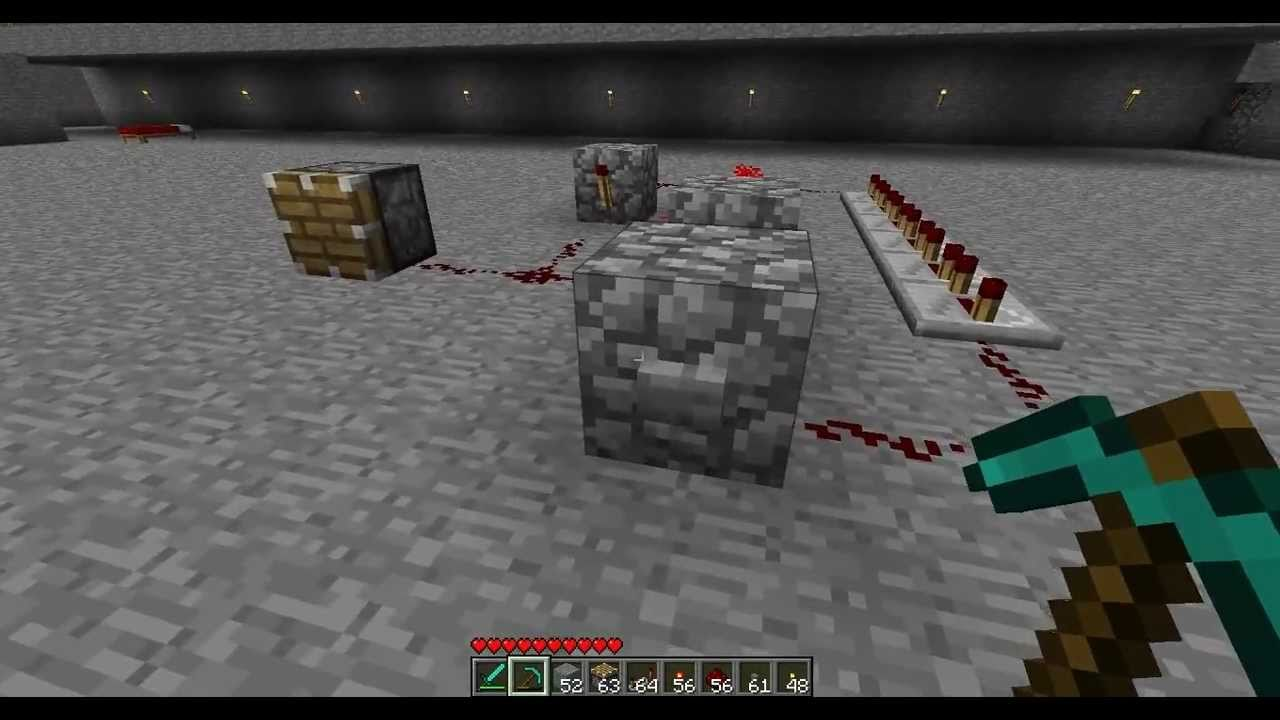 Minecraft Tutorial Make A Button Keep Redstone On For As Long The Actual Homework Then Is To Build Four Circuits Using Only You Want Youtube