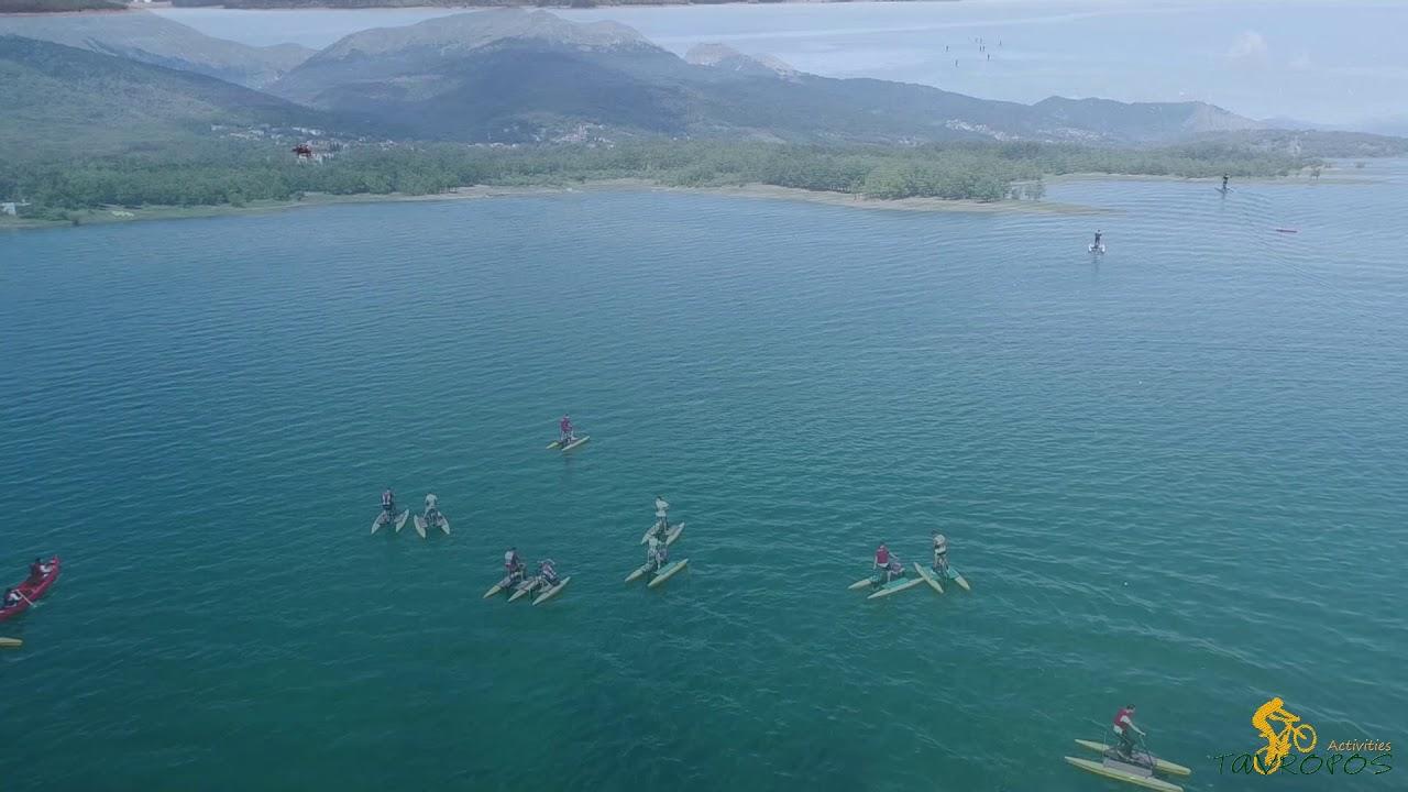 Υδροποδήλατο, κανό, τοξοβολία, Mountain Bikes Λίμνη Πλαστήρα/Hydrobikes Canoe Archery Lake Plastiras