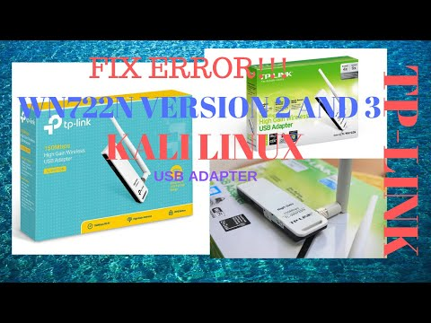 TP-LINK TL-WN722N USB Adapter Version 2 And 3 FIXED Kali Linux Using Virtual Box! April 2020