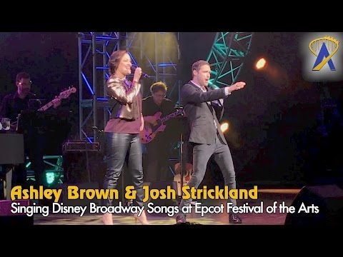 Disney on Broadway songs at Epcot Festival of the Arts with Ashley Brown and Josh Strickland