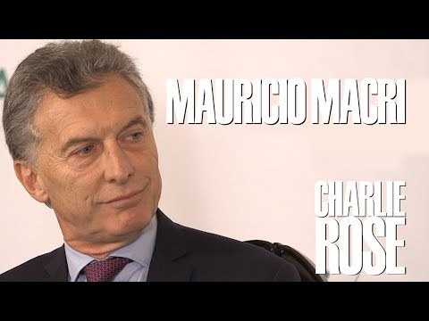 President Mauricio Macri | Charlie Rose