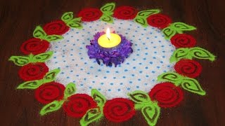Super easy and quick rangoli using colander | Innovative rangoli designs by Poonam Borkar