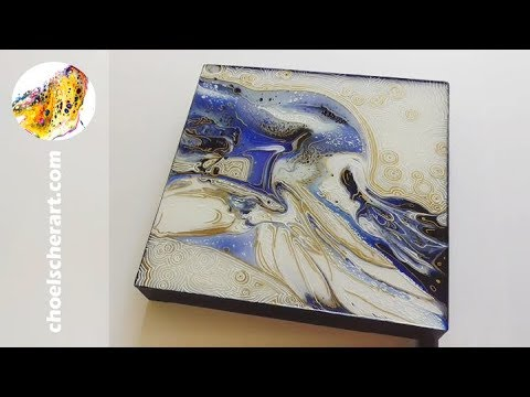 🌌Acrylic Pour Painting Demo (SOLD) - Lot of RESIN Layers on this Tutorial!