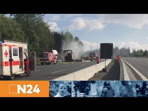 N24 Nachrichten - Schwerer Reisebusunfall: Viele Tote auf der A9 in Bayern befürchtet