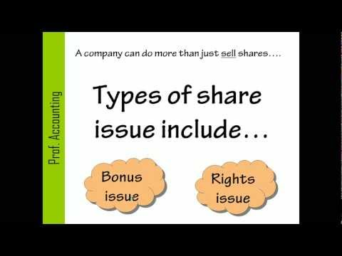 Learn Accounting Podcast # 13 Company Accounts Bonus Issue and Rights Issue - Prof. Accounting