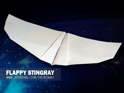 BIONIC PAPER PLANE - How to make a paper airplane that FLAPS WINGS like birds | Stingray