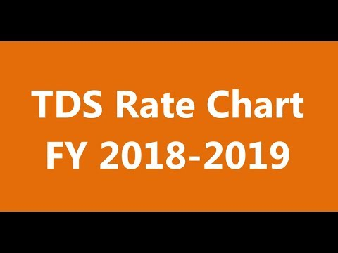 TDS RATE CHART FY 2018 - 2019 | TDS RATES FOR THE FINANCIAL YEAR 2018-2019