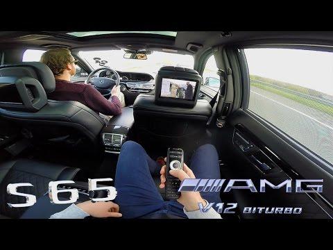 Mercedes Benz S65 AMG V12 BiTurbo Passenger POV Drive on TOP SPEED