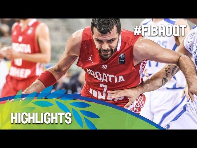 EOK | Εθνική Ανδρών : Τα Highlights του αγώνα Κροατία - ΕΛΛΑΔΑ 66-61. Δηλώσεις Φώτη Κατσικάρη μετά τον αγώνα (Προολυμπιακό Τουρνουά Τορίνου)