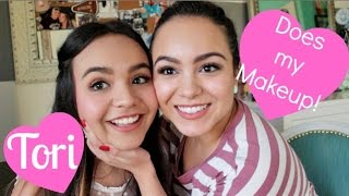 Sister Does My Makeup!!! Tori and Mirella ♡ Thumbnail