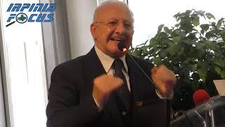 Sanità in Campania, l'intervento ad Avellino del governatore De Luca