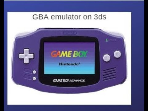 gba, gbc emulator for 3ds firmware 11 8