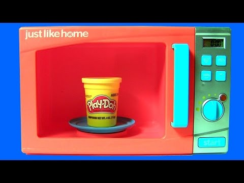 just like home microwave oven toy play doh surprises with anna elsa frozen in the kitchen. Black Bedroom Furniture Sets. Home Design Ideas