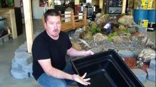 """How to Install a Disappearing Fountain - Step by Step by Carl Petite, """"The Pond Product Review Guy"""""""