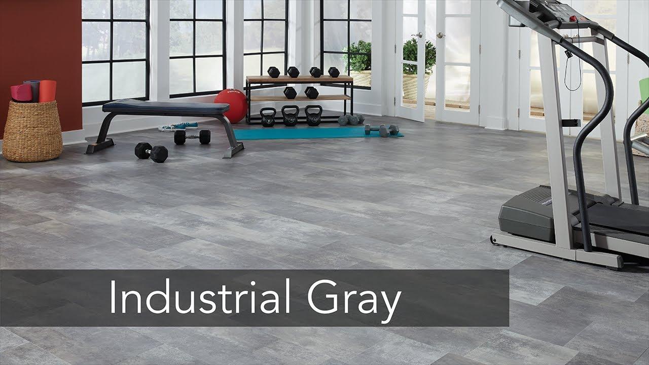 Industrial Gray Engineered Vinyl Plank Flooring YouTube