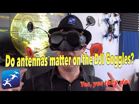 DJI Digital FPV Goggles System – How much of a difference do patch antennas make on 25mw?