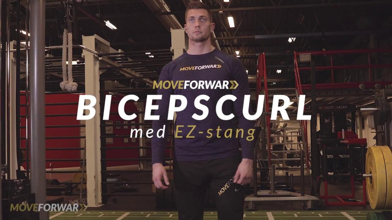bicepscurl med stang