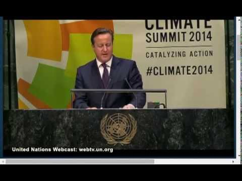 David Cameron's speech to the UN Climate Summit 2014