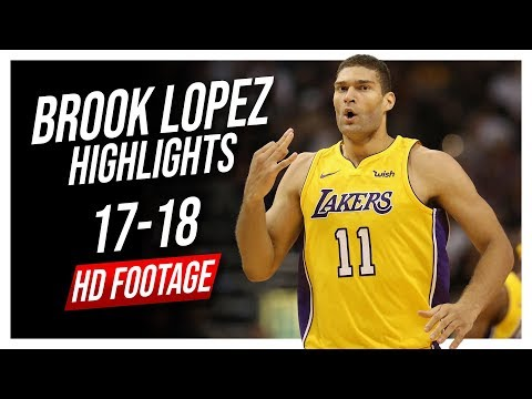 Lakers C Brook Lopez 2017-2018 Season Highlights ᴴᴰ