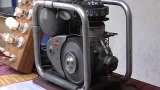 moteur stirling en démonstration sur un stand