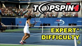 TOP SPIN 4 - Jelena Jankovic vs. Serena Williams (Expert Gameplay)