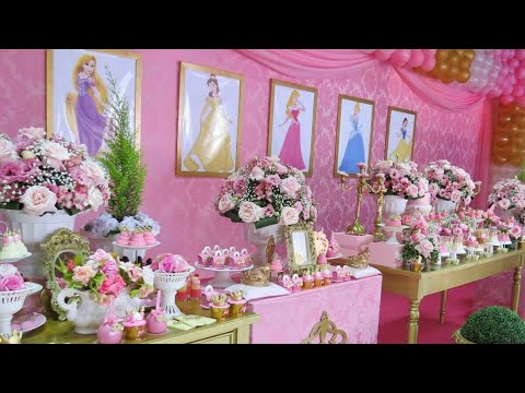 FIESTA DE PRINCESAS |PARTY PRINCESS 2018 GIRLS|FIESTAS INFANTILES|IDEAS|DECORACIÓN|ADORNOS