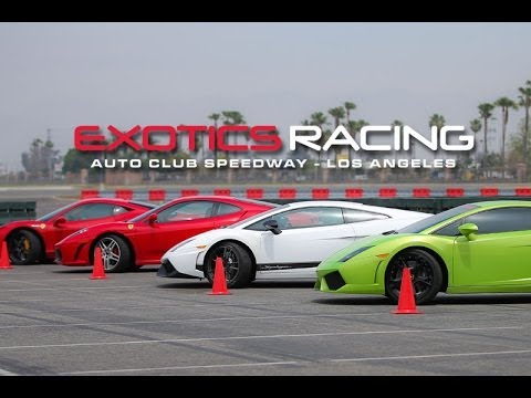 About Exotic Racing Los Angeles At Auto Club Speedway Youtube