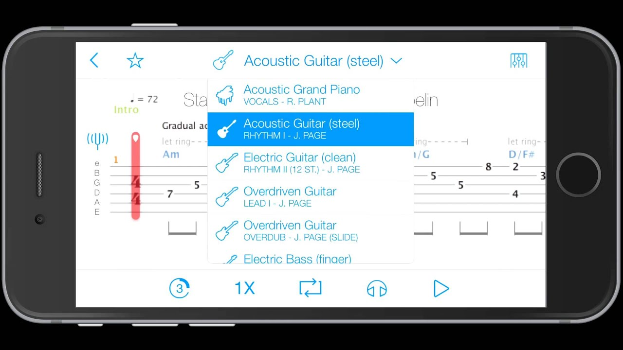The Tone Zone - Songsterr Tab app for iPhone