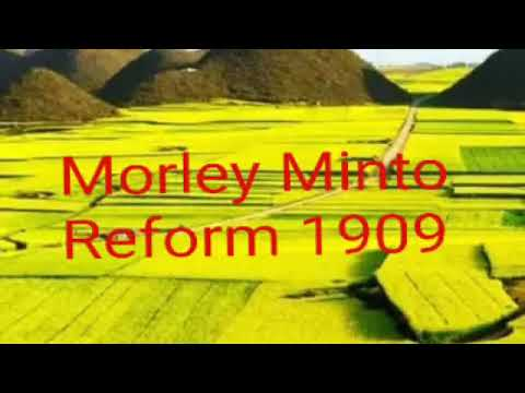 morley minto reforms in hindi