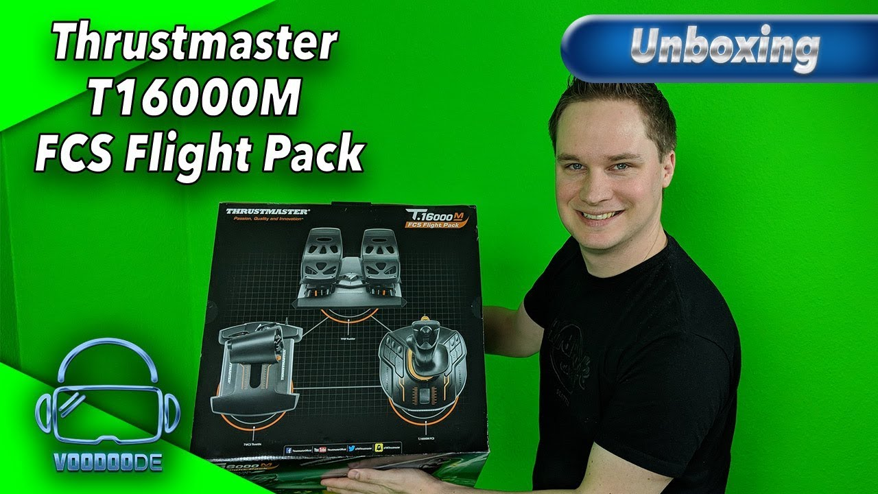 Unboxing Thrustmaster T16000M FCS Flight Pack [HOTAS System][Virtual  Reality]
