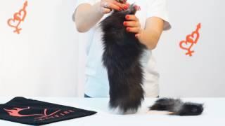 Комплект чернобурой лисички - анальный хвост и ушки
