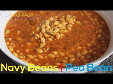 FAST RECIPE How To Cook Navy Beans | Vegan Recipe | Pearl Haricot Bean, White Pea Bean, or Pea Bean