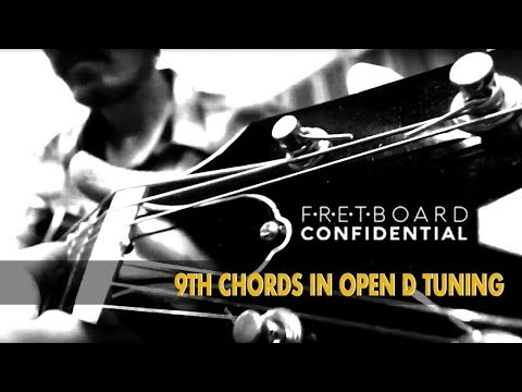 9th Chords In Open D Tuning For Fingerstyle Blues Guitar Youtube
