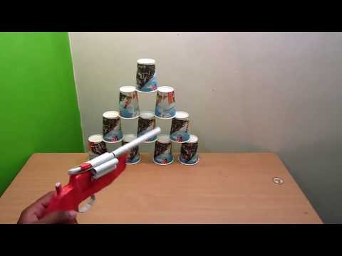 How to make a paper revolver that shoots paper bullet  || amazing videos