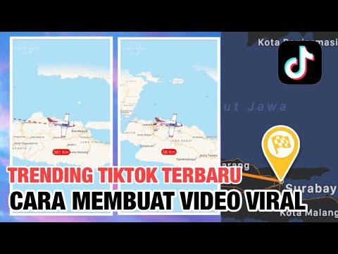 TRENDING , Cara membuat video Jarak animasi maps Travelboast viral Tiktok