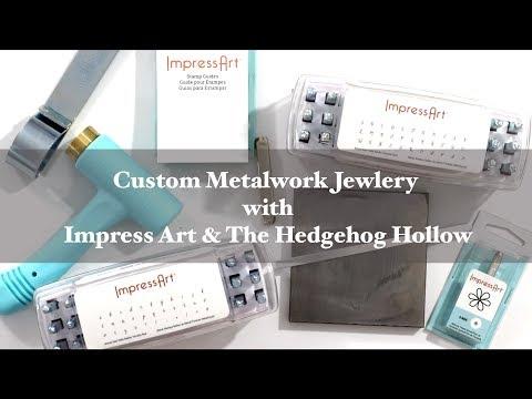 Customized Metal Work Jewelry with Impress Art