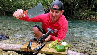 WORLDS LARGEST *CRAWFISH* (Catch Clean & Cook in JAMAICA)