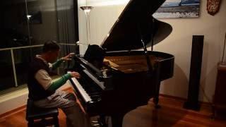 Hà Nội Mùa Vắng Những Cơn Mưa. Piano improvisation by NVH after 2 yrs learning.
