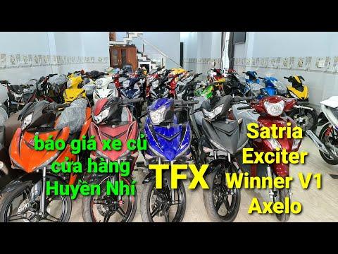 107. Báo giá xe cũ Satria   Exciter   Winner V1   Axelo   Yamaha TFX tại cửa hàng Huyền Nhí