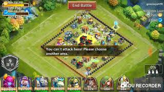 Castle of clash  ( town hall 12) attacking strategy